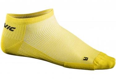 mavic 2016 paire de chaussettes basse cosmic jaune