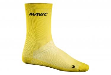 mavic 2016 paire de chaussettes haute cosmic jaune