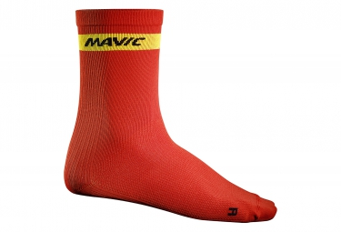 mavic 2016 paire de chaussettes haute cosmic rouge