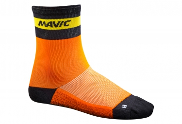 mavic 2016 paire de chaussettes ksyrium carbon orange x