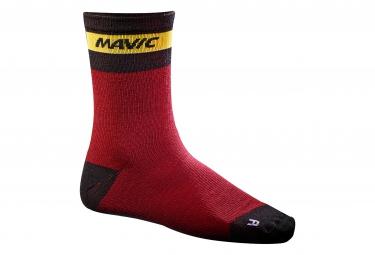 mavic 2016 paire de chaussettes ksyrium merino rouge