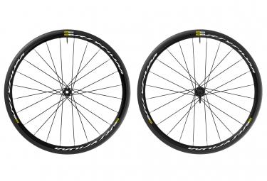 mavic 2016 paire de roues ksyrium disc 6tr campagnolo pneus yksion elite 25mm