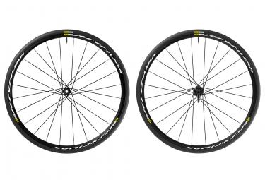 mavic 2016 paire de roues ksyrium disc shimano sram pneus yksion elite 25mm