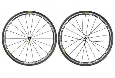 mavic 2016 paire de roues ksyrium elite blanc campagnolo pneus yksion pro 25mm