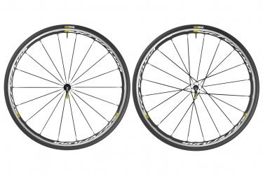mavic 2016 paire de roues ksyrium elite blanc shimano sram pneus yksion pro 25mm