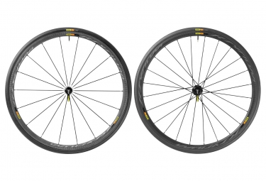 mavic 2016 paire de roues ksyrium pro carbone slt shimano sram boyaux yksion pro 25mm