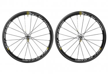 mavic 2016 paire de roues ksyrium pro disc shimano sram pneus yksion pro 25mm