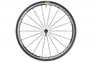 mavic 2016 roue avant ksyrium elite blanc pneu yksion pro 25mm