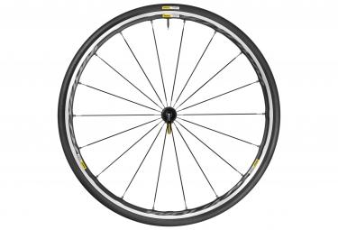 mavic 2016 roue avant ksyrium elite noir pneu yksion pro 25mm