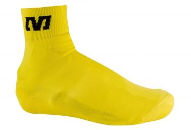 mavic couvre chaussures tricote jaune