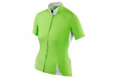 ne pas remettre en ligne mavic maillot femme manches courtes cloud vert