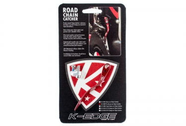 k edge patte anti sauts de chaine pro road chain catcher rouge