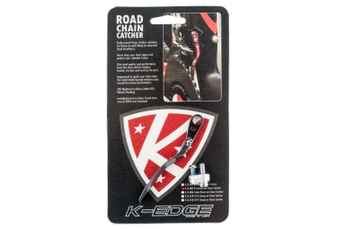 k edge patte anti sauts de chaine pro road chain catcher noir
