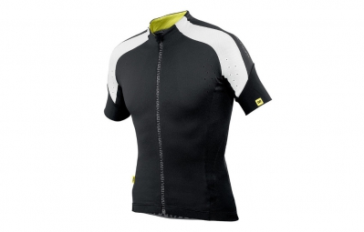 mavic maillot manches courtes infinity relax coupe ajustee noir