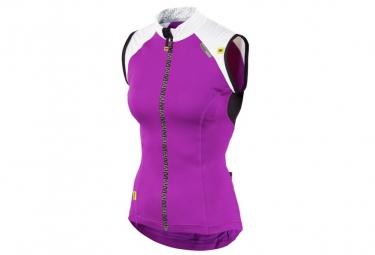 ne pas remettre en ligne mavic maillot sans manches athena femme blanc violet