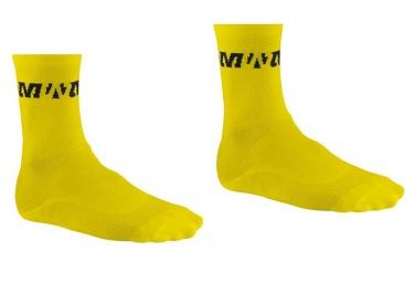 mavic paire de chaussettes pro jaune