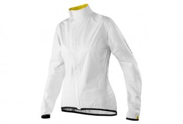 mavic veste impermeable femme oxygen h2o blanc