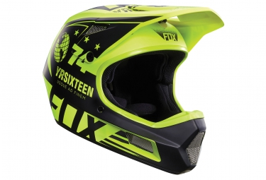 casque fox rampage comp union jaune noir
