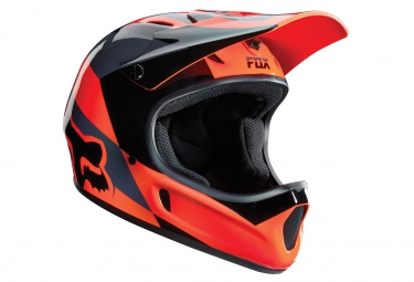 casque fox rampage mako orange noir