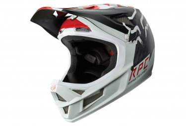 casque fox rampage pro carbon libra mips blanc rouge
