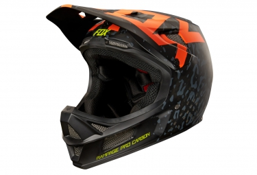 casque fox rampage pro carbon mips cauz noir orange