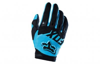 fox paire de gants dirtpaw aqua bleu
