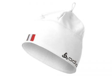 odlo bonnet polyknit team france blanc