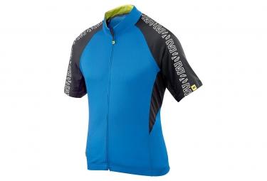 mavic maillot manches courtes sprint relax bleu noir