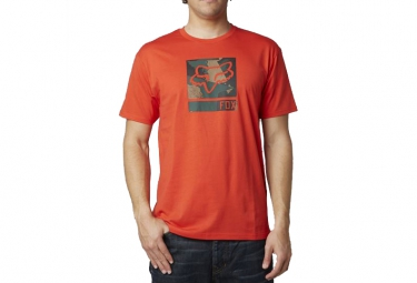 fox t shirt grisler orange