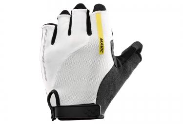 mavic paire de gants ksyrium elite blanc noir
