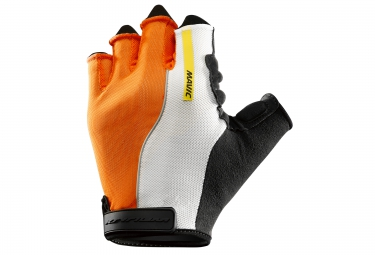 mavic paire de gants ksyrium pro orange blanc noir