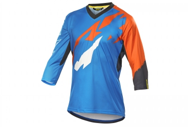 mavic 2016 maillot 3 4 crossmax pro bleu orange