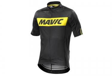 mavic maillot cosmic noir jaune