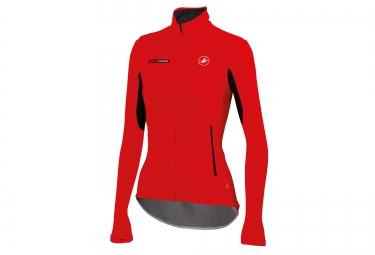 castelli veste gabba windstopper x lite rouge femme