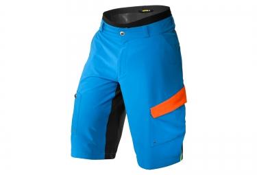 mavic 2016 short avec peau de chamois crossmax pro bleu orange
