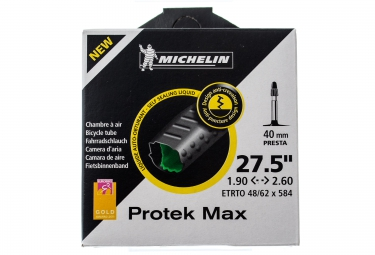 michelin chambre a air protek max presta 40 mm 27 5x 1 90 2 60