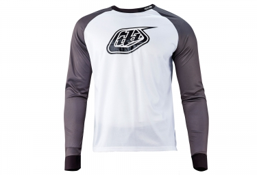 troy lee designs maillot manches longues moto gris blanc