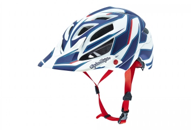 casque troy lee designs a1 reflex 2016 blanc bleu