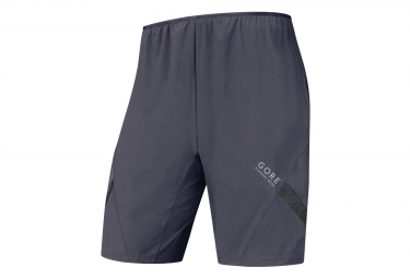 gore running wear air 2in1 shorts grey