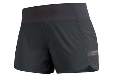 gore running wear short air lady noir gris femme