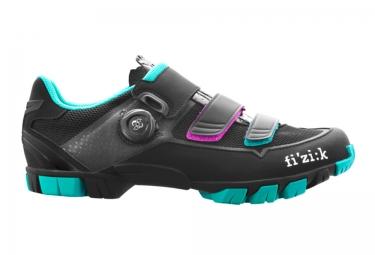 fizik chaussures vtt m6 donna noir bleu femme