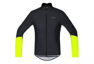 gore bike wear veste power windstopper noir jaune