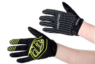 troy lee designs 2016 gants enfants sprint noir jaune