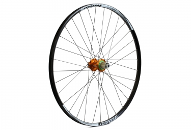 hope roue arriere tech xc pro 4 29 32 rayons axe 12x142 mm orange