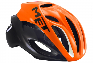 casque met rivale orange noir