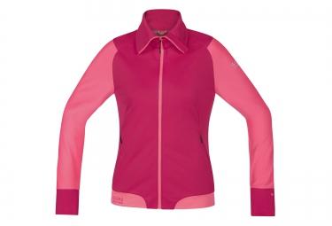 gore bike wear veste power trail windstopper rose femme