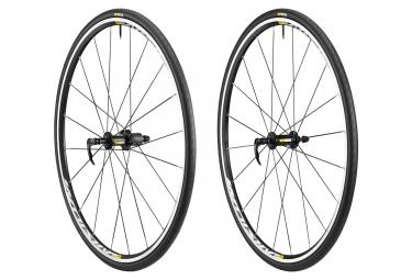mavic 2016 paire de roues aksium elite noir corps campagnolo 11v pneus yksion elite