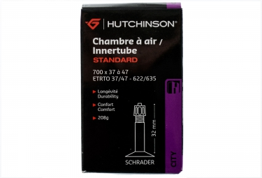 hutchinson chambre a air standard 700 x 37 47mm schrader 32mm