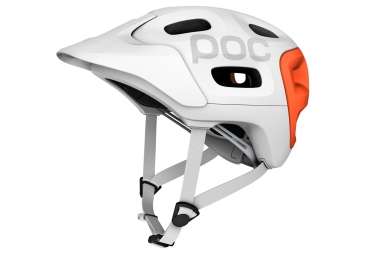 casque poc trabec race blanc orange