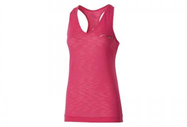asics debardeur fuzex schneider marathon de paris rose femme